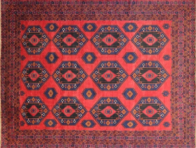 Wool on Wool Hand Knotted Persian Balouch Rug