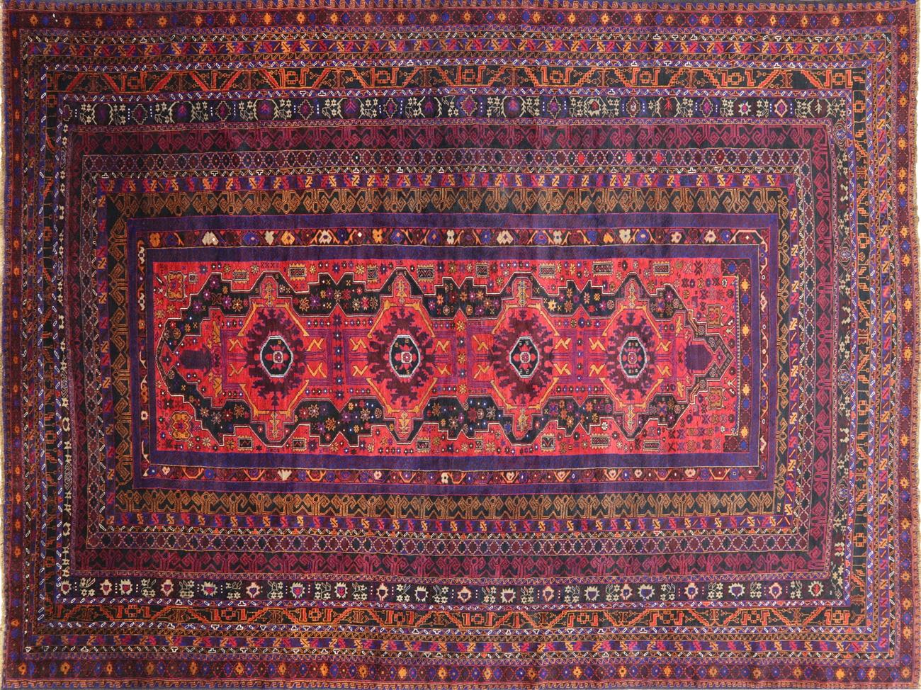 Wool on wool 10 x 13 oriental handmade persian rug p3000