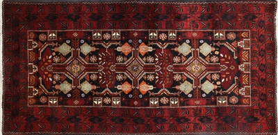 Tribal Hand Knotted Oriental Persian Area Rug