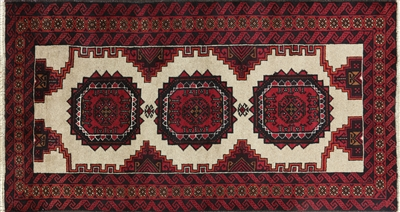 Persian Balouch Hand Knotted Rug