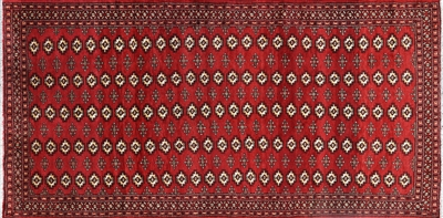 Hand Knotted Persian Bokhara Rug