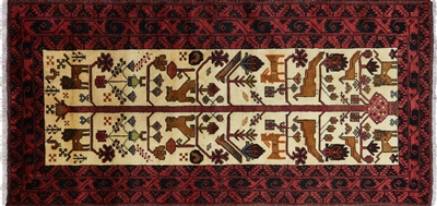 Handmade Tribal Persian Baluch Area Rug