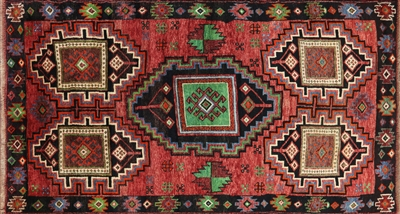 Tribal Wool on Wool Oriental Persian Area Rug