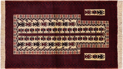 Tribal Persian Balouch Hand Knotted Area Rug