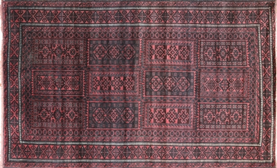 Wool on Wool Persian Balouch Handmade Area Rug