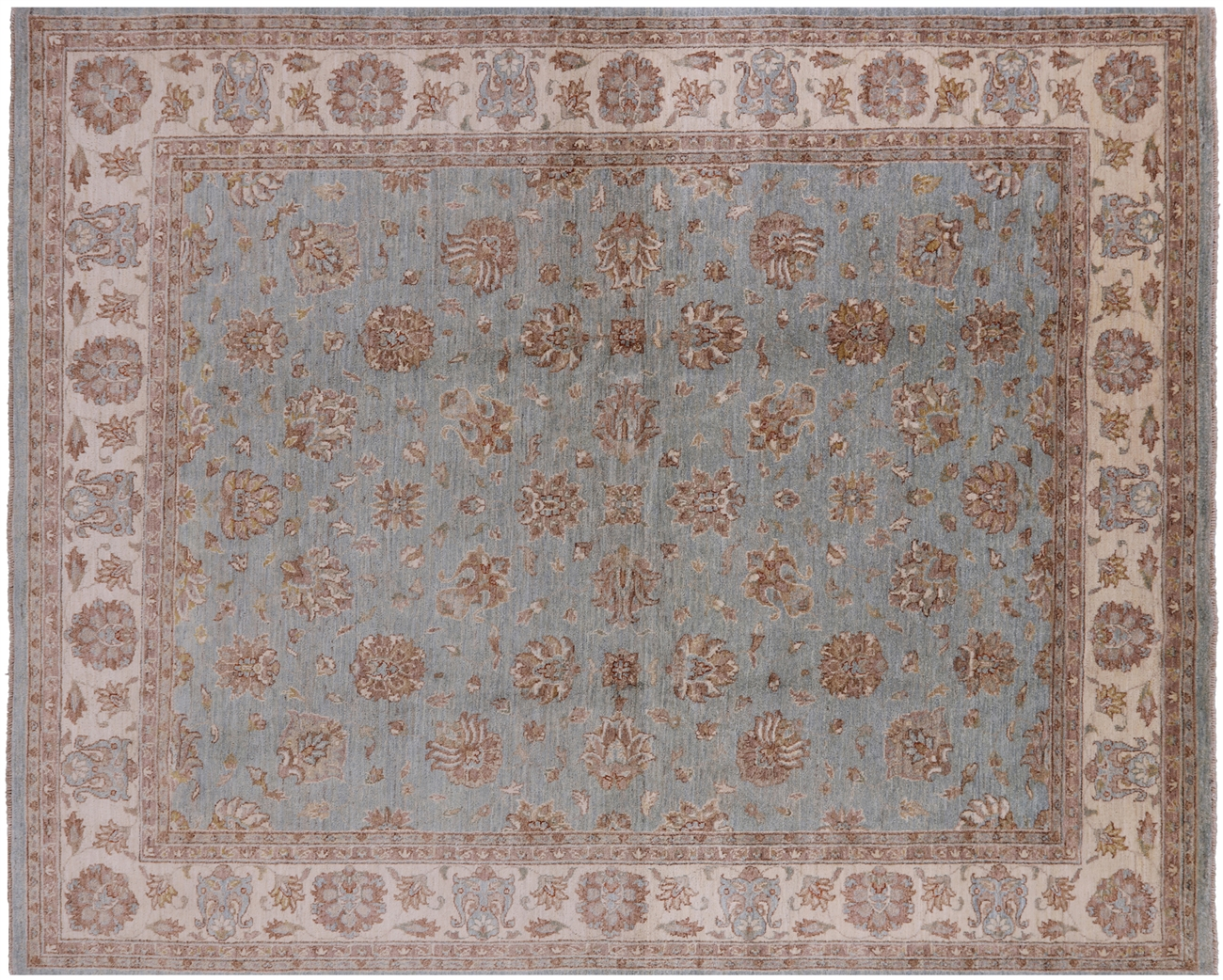 Hand Knotted Persian 8 X 10 Wool Area