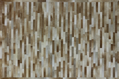 Lines Patchwork Cowhide Area Rug
