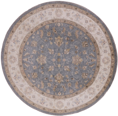 Hand Knotted Oriental Persian Round Wool Area Rug