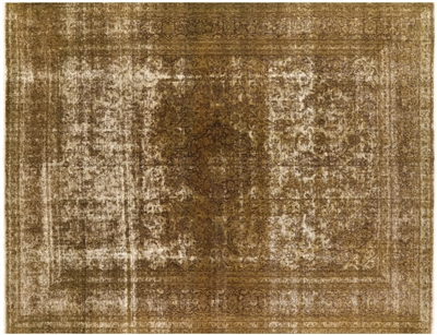 Persian Hand Knotted Overdyed Wool Area Rug