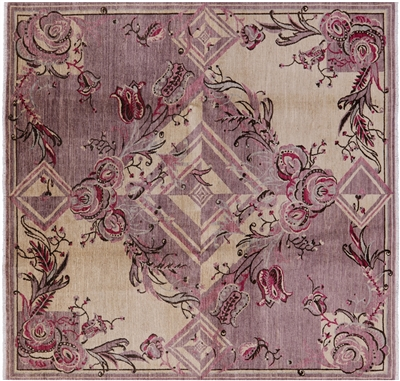 Modern Square Hand Knotted Rug