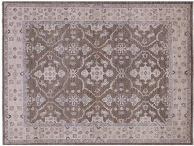 Hand Knotted Peshawar Oriental Wool Area Rug