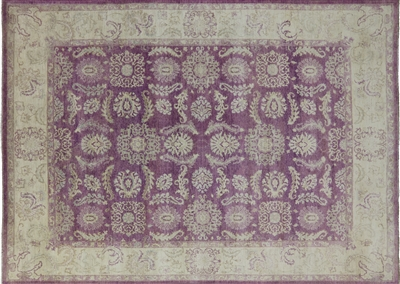 Hand Knotted Purple Persian Rug