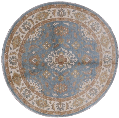 Round Hand Knotted Persian Area Rug
