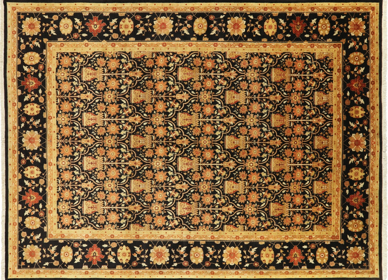 Hand Knotted French Design Persian Area Rug