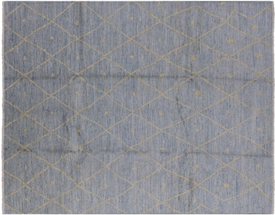 Modern Moroccan Hand Knotted Area Rug