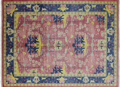 Art Deco Modern Hand Knotted Area Rug