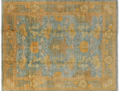 Art Deco Oriental Modern Hand Knotted Area Rug