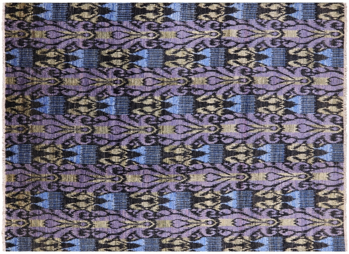 9 1 Quot X 12 5 Quot Ikat Hand Knotted Area Rug