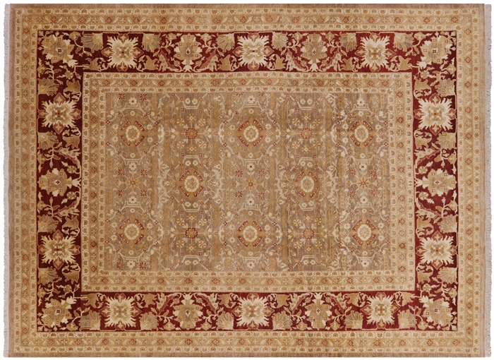 Traditional Hand Knotted Wool Peshawar Area Rug