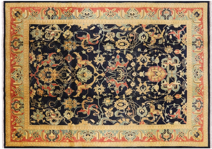 Oriental Hand Knotted Wool Peshawar Area Rug