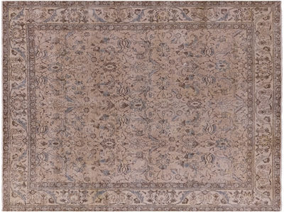 Overdyed Oriental Hand Knotted Area Rug