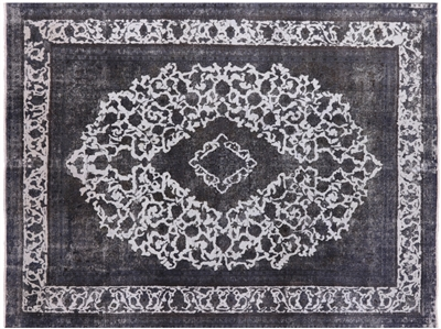 Persian Veg Dyed Hand Knotted Overdyed Rug