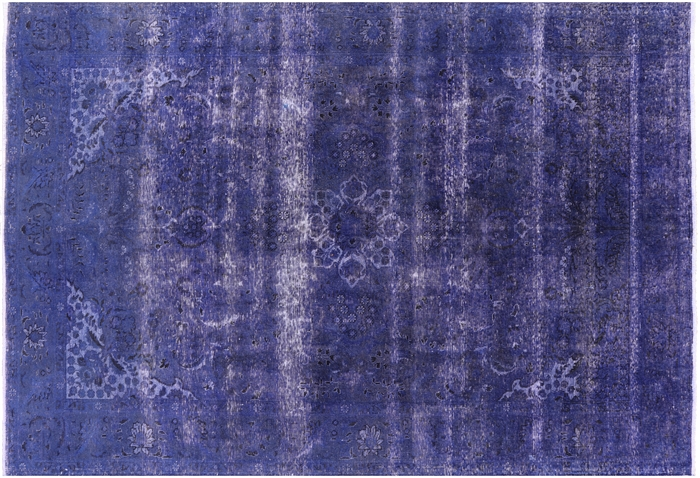 Oriental Hand Knotted Veg Dyed Overdyed Rug