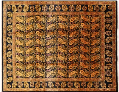 Persian Paisley Hand Knotted Area Rug