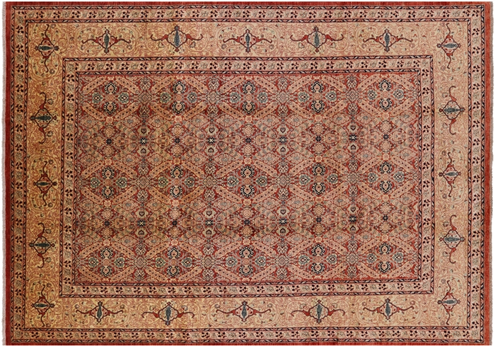 Peshawar Hand-Knotted Area Rug