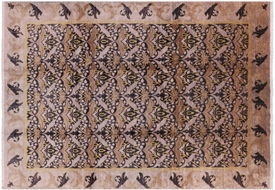 William Morris Hand Knotted Modern Area Rug