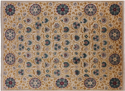 William Morris Hand Knotted Wool Rug