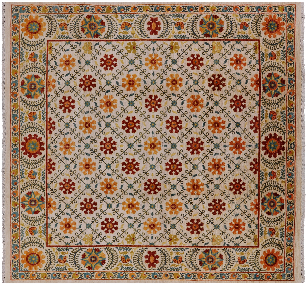 9 Square William Morris Area Rug