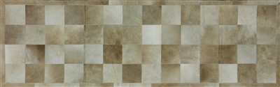 Runner Patchwork Cowhide Hand Stitched Area Rug