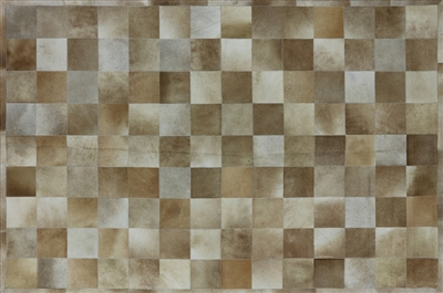 Geometric Patchwork Cowhide Hand Stitched Area Rug
