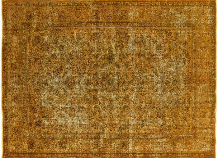 Persian Overdyed Hand Knotted Wool Area Rug