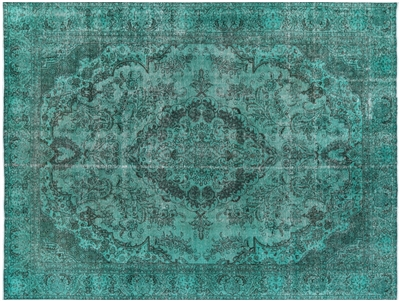 Persian Tabriz Overdyed Hand Knotted Oriental Area Rug
