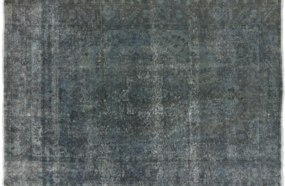 Overdyed Hand Knotted Area Rug