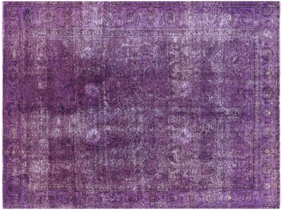 Purple Overdyed Hand Knotted Area Rug