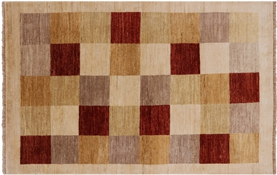 Geometric Gabbeh Hand Knotted Area Rug