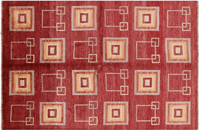 Hand Knotted Oriental Gabbeh Area Rug