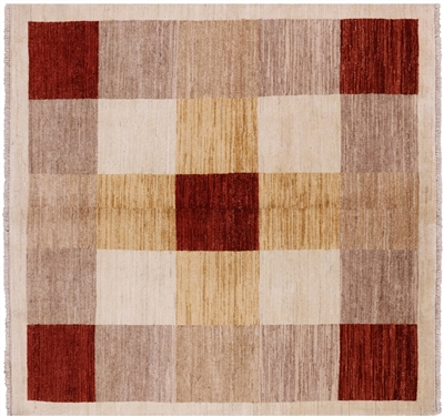 Square Persian Gabbeh Area Rug