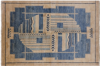 Gabbeh Hand Knotted Wool Area Rug