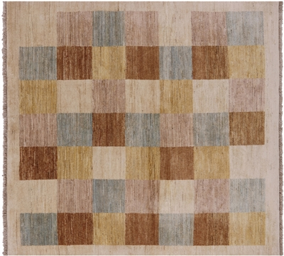 Square Gabbeh Hand Knotted Rug