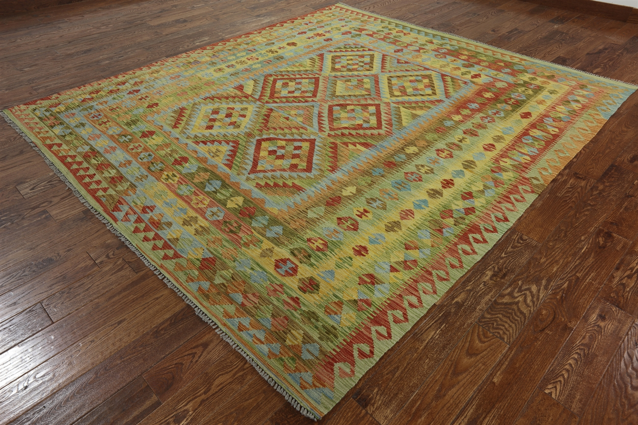 Flat Wave Reversible Kilim Area Rug 9 X 10