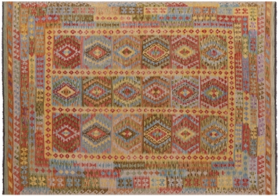 Tribal Kilim Reversible Flat Weave Rug