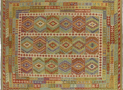 Multicolor Kilim Reversible Flat Weave Area Rug