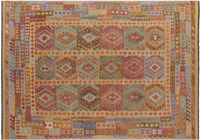Multi-Color Kilim Flat Weave Area Rug