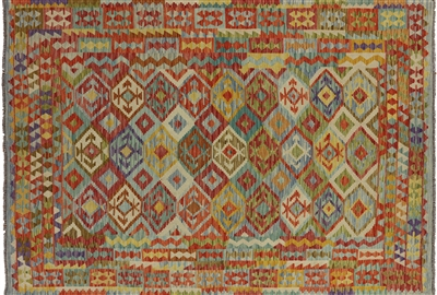 Flat Weave Multi-Color Oriental Kilim Area Rug