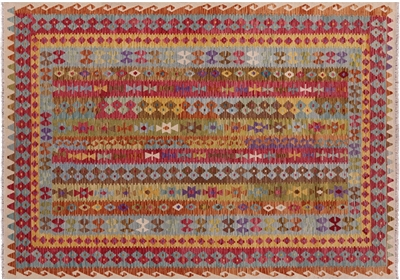 Tribal Reversible Flat Weave Kilim Area Rug