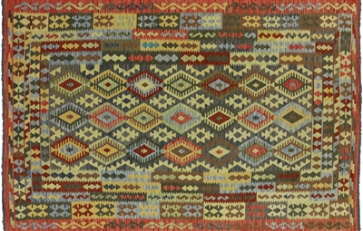 Tribal Oriental Kilim Reversible Area Rug